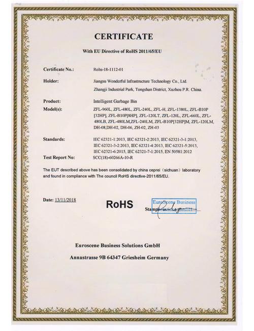 ROHS安全认证