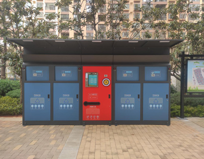 科技感十足,新型智能垃圾箱房亮相天津