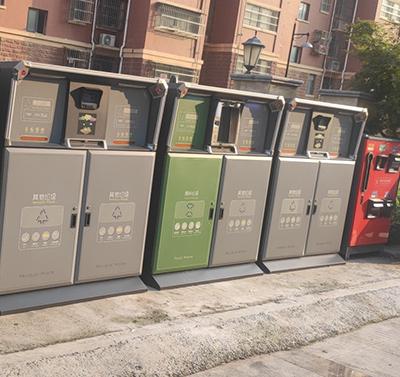 德澜仕智能垃圾箱助力铜山区垃圾分类