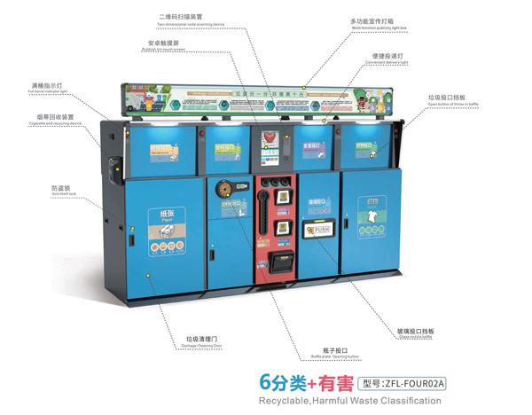 德澜仕智能垃圾分类桶ZFL-FOUR02A